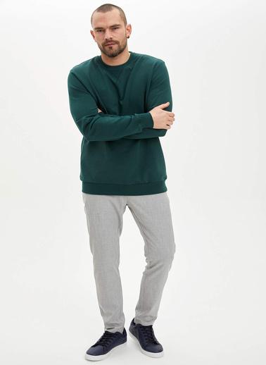 DeFacto Basic Regular Fit Sweatshirt Haki
